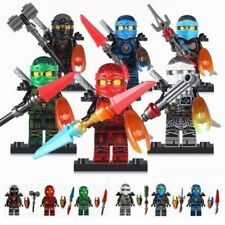 6 Sets Minifigures Flying Ninjago Ninja Figures KAI Lloyd JAY NYA COLE Block #17