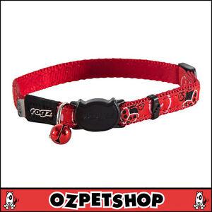 Rogz FancyCat Cat Collar - Red Ladybird Design