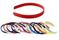 Plain Flat SATIN Fabric Thick ALICE BAND 15mm HEADBAND Hair Band Accessories