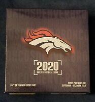 Denver Broncos 2020 Desk Calendar with Adhesive