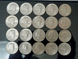 LOT OF (20) 1979-P AND D SUSAN B ANTHONY DOLLARS