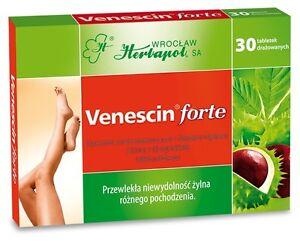 VENESCIN Forte 30tb - Natural Remedy - Horse Chestnut extract - Chronic Venous I