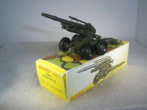 Dinky Toys Military Army 155MM CANNON FRENCH DINKY #802 PERFECT IN BOX