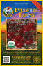 50 Organic Large Red Cherry Heirloom Tomato Seeds - Everwilde Farms Mylar Packet