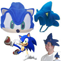 Game Sonic The Hedgehog Cosplay Costume Hat Unisex Kids Adult Plush Cap Prop