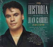 Juan Gabriel Mi Historia Musical 2CD+1DVD Caja De Carton New Sealed