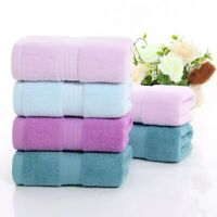 Thick Super Absorbent Towel Solid Color Soft Cotton Face Wash Towels for Adults
