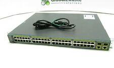 Cisco 2960S PoE+ Ws-C2960S-48Lps-L Switch C2960S-Stack w/ Rackmounts Port 4 Dead