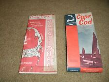 VINTAGE 1973 CAPE COD VACATION ROAD MAP & CAPE COD VACATIONER MAP