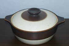Denby Authentic English Stoneware Brown Band Covered Casserole Dish. England