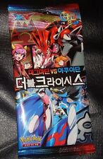 KOREAN Pokemon Card pack of 8 Cards XY DOUBLE CRISIS Team Magma vs. Team Aqua