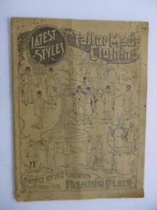 c.1898 Sears Roebuck Tailor Made Clothing Catalog Men's Fashion Antique Original