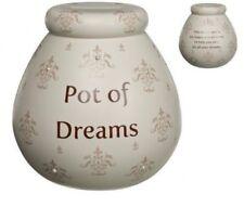 Pot Of Dreams Ceramic Gift Money Box/ Pot FLEUR DE LYS (52034) Break To Open