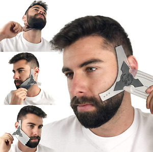 Beard Shaping Tool Kit for Men [Comb & Pencil Liner Included], Shaper Template