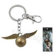 Harry Potter Golden Snitch 10cm-10.5cm Metal Key Ring Chain New In Box Gold