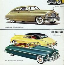 Old Print. 1950 Packard Super Deluxe Club Sedan & Custom Convertible - Autos