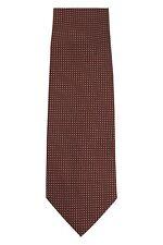 Tom Ford 100% Silk Neck-Tie Brown & Silver Geometric Dots