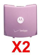 Lot Of 2 Oem Motorola Razor V3C V3M Cdma Battery Back Door Cover Good Used