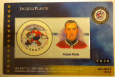Canada # 1838f  NHL ALL STARS  Jacques Plante   2000 HOCKEY CARD & STAMP  sealed