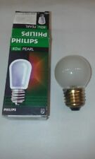 6 x Vintage Philips 40W E27 ES PEARL Golf Ball Round Light Bulb 240V (BRASS CAP)