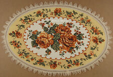 DECORATIVE TAPESTRY TABLE RUNNER Orange Floral Ornament PLACE MAT ACCENT DECOR