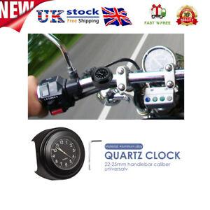 22-25mm Dia Motorcycle Handlebar Mount Clock Waterproof Luminous Quartz Watch