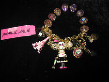BETSEY JOHNSON PARIS IS ALWAYS A GOOD IDEA MOUSE EIFFEL TOWER CHARM BRACELET