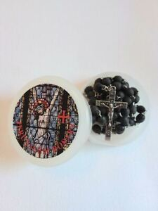 Amber Scented Rosary from Israel with Crucifixion Rosary Holder