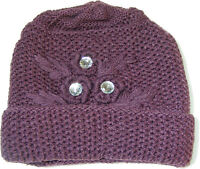 WOMENS LADIES THICK LILAC BLUE KNITTED BEANIE HAT WITH 3M THINSULATE INSULATION