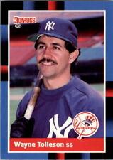 1988 Wayne Tolleson Donruss Baseball Card #154