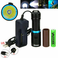 10000Lm XM-T6 LED Underwater 120m Scuba Diving Flashlight  Torch 26650/18650Lamp