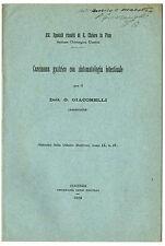 Libro Medicina Nota Clinica Carcinoma Gastrico Autografo Giacomelli Santa Chiara