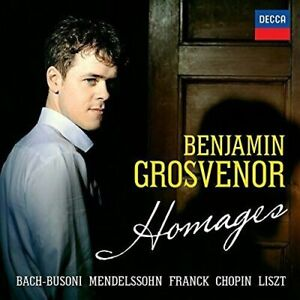 BENJAMIN GROSVENOR HOMAGES CD NEW SEALED BACH-BUSONI FRANCK CHOPIN LISZT