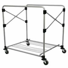 More details for rubbermaid x-cart heavy duty frame trolley 300ltr lightweight design