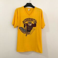 Vintage Made In Usa Minnesota 86 Tubas Gophers Yellow Tee Shirt (Size Xl)