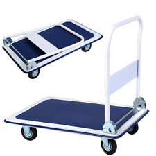 660lbs Platform Cart Dolly Folding Foldable Moving Warehouse Push Hand Truck New