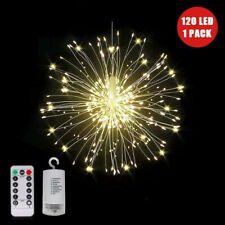 LED Firework Fairy String Lights Starburst Christmas Party Outdoor Hanging Decor