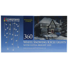 360 White LED Snowing Icicle Lights Indoor Outdoor Christmas Xmas Party Lighting