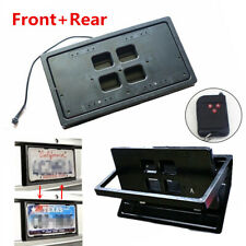 2x Car Flip License Plate Frame Number Shift Turn Off Shutter US Type w/ Remote