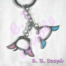2P Stitch Angel adorable Love couple cellphone strap pendant Disney cute keyring