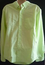 Mens AEROPOSTALE Lime Long Sleeve Dyed Oxford Woven Shirt size S NWT #4218