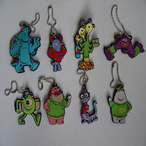 Disney Pixar Monsters University Character Keychains 8 to Collect Sulley, Mike