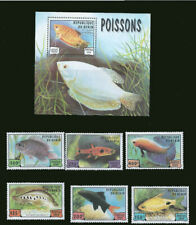 Benin 1999 Tropical Fish  6 Stamp Set plus S/S  2B-259