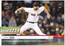 2019 Topps Now Chris Sale #228 1st Pitcher with 17 Strikeouts in 7 IP