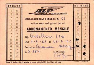 1968 TESSERA AUTOBUS AUTOSERVIZI LENGUEGLIA PAOLO ALBENGA LIGURIA 1-116
