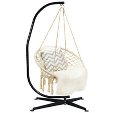 Hammock Chair Swing Hanging Rope With Solid Steel C Hammock Frame Stand