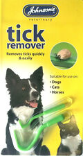 TICK REMOVER Stick DOGS CATS HORSES Quick Easy 2 Size Pack Vet Johnson's Pet