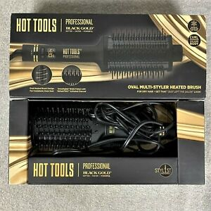 Hot Tools Professional Black Gold Oval Multi-Styler Heated Hair Brush