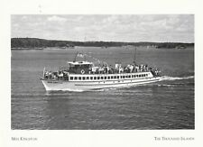 """Miss Kingston"" /Converted WW II Sub-Chaser"" *Thousand Islands {Postcard} (#404)"