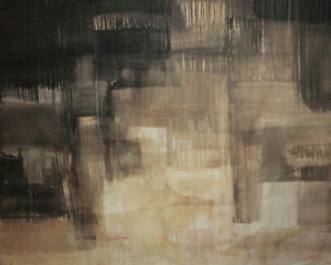 Vintage large abstract oil painting 83'